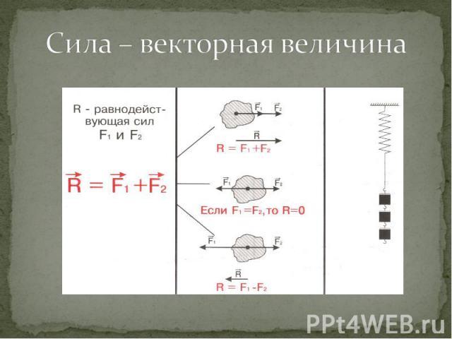 Сила – векторная величина