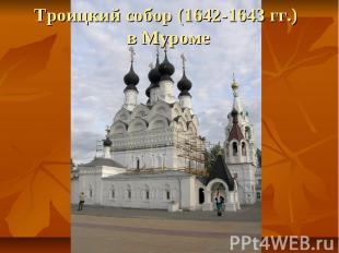 Троицкий собор (1642-1643 гг.) в Муроме
