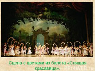 Сцена с цветами из балета «Спящая красавица».