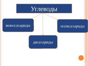 Углеводы моносахариды дисахариды полисахариды