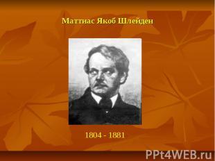 Маттиас Якоб Шлейден 1804 - 1881