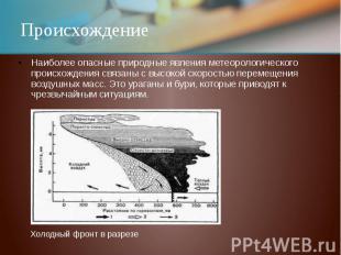 ПроисхождениеНаиболее опасные природные явления метеорологического происхождения