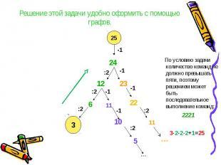Решение этой задачи удобно оформить с помощью графов. По условию задачи количест