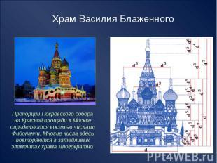 Храм Василия Блаженного Пропорции Покровского собора на Красной площади в Москве
