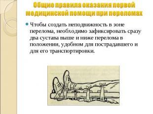 Общие правила оказания первой медицинской помощи при переломах Чтобы создать неп
