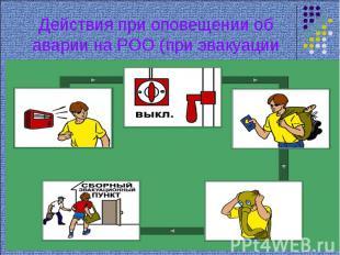 Действия при оповещении об аварии на РОО (при эвакуации