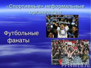 «Спортивные» неформальные организацииФутбольные фанаты