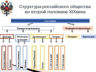 Структура российского обществаво второй половине XIXвека