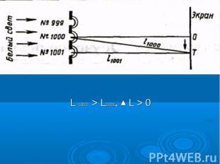 L 1000 > L1001, L > 0