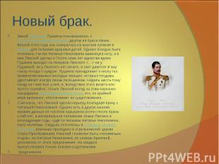 Зимой1844 годаПушкина познакомилась сПетром Петровичем Ланским, другом её бра