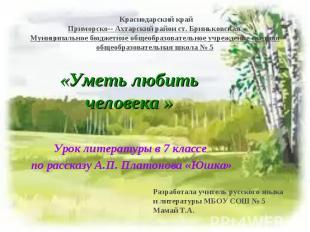 Краснодарский крайПриморско- Ахтарский район ст. Бриньковская Муниципальное бюдж
