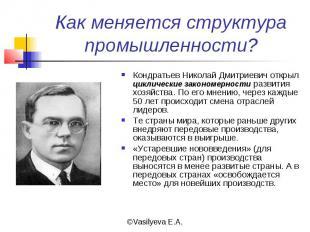 Как меняется структура промышленности? Кондратьев Николай Дмитриевич открыл цикл