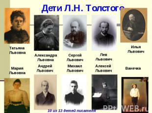 Дети Л.Н. Толстого.