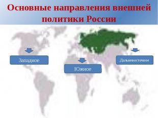 Основные направления внешней политики России