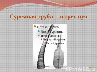 Суремная труба – тотрет пуч