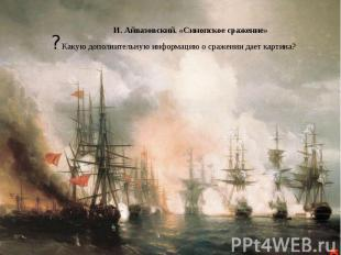 И. Айвазовский. «Синопское сражение» ? Какую дополнительную информацию о сражени