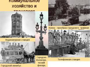 Коммунальное хозяйство и транспорт Водонапорная станция Городской омнибус Городс