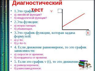 1.Это график: а) линейной функции? б) квадратичной функции?2.Эта функция:а) возр