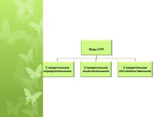 Виды СППС придаточными определительнымиС придаточнымиизъяснительнымиС придаточны
