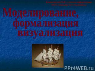 Моделирование, формализация визуализация Клинковская М.В., учитель информатики М