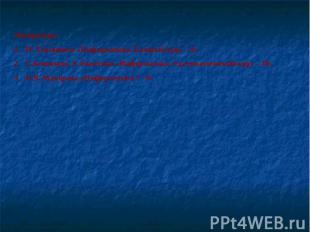 Литература:Н. Угринович «Информатика. Базовый курс – 9»С.Бешенков, Е.Ракитина «И