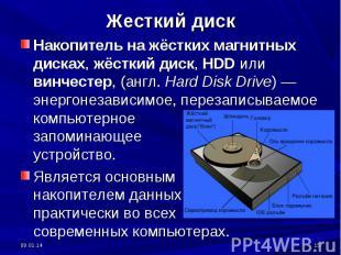 Жесткий диск Накопитель на жёстких магнитных дисках, жёсткий диск, HDD или винче