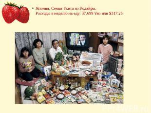 Япония. Семья Укита из Кодайры.Расходы в неделю на еду: 37,699 Yen или $317.25