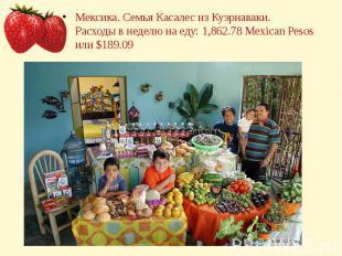 Мексика. Семья Касалес из Куэрнаваки.Расходы в неделю на еду: 1,862.78 Mexican P