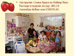 Австралия. Семья Браун из Райвер Вью.Расходы в неделю на еду: 481.14 Australian
