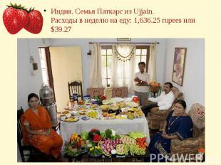 Индия. Семья Паткарс из Ujjain.Расходы в неделю на еду: 1,636.25 rupees или $39.