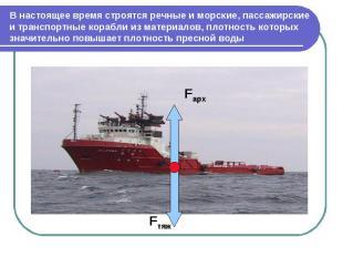 В настоящее время строятся речные и морские, пассажирские и транспортные корабли