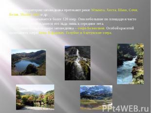 По территории заповедника протекают реки: Мзымта, Хоста, Шахе, Сочи, Белая, Мала