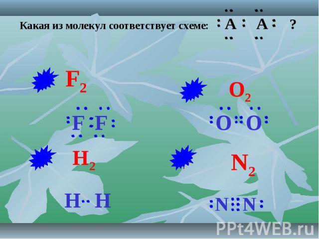 Какая из молекул соответствует схеме: A A ?
