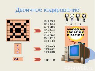Двоичное кодирование 1000 00010101 10100010 01000101 10100101 10100010 01000101