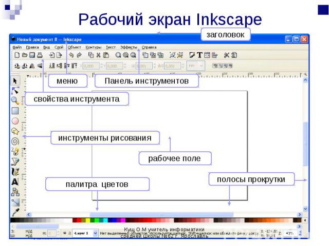 Рабочий экран Inkscape