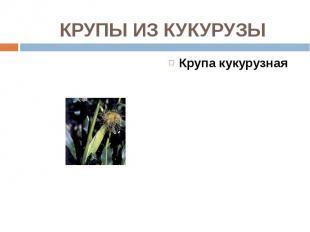 Крупа кукурузная Крупа кукурузная