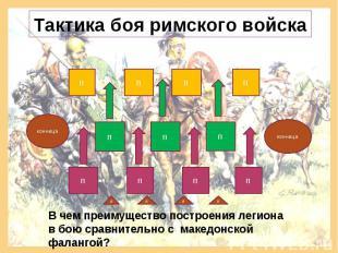 Тактика боя римского войска В чем преимущество построения легиона в бою сравните