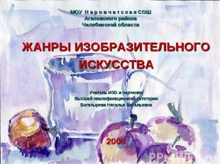 МОУ Н а р о в ч а т с к а я СОШАгаповского районаЧелябинской области ЖАНРЫ ИЗОБР