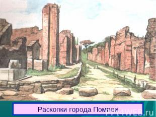 Раскопки города Помпеи