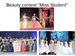 "Beauty contest ""Miss Student"""