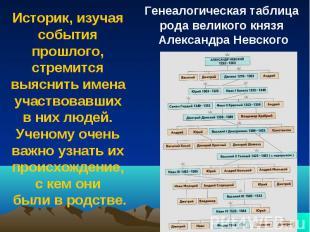 Историк, изучая события прошлого, стремится выяснить имена участвовавших в них л