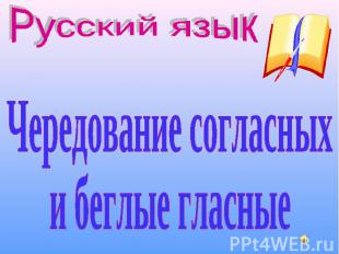 Русский язык Чередование согласных и беглые гласные