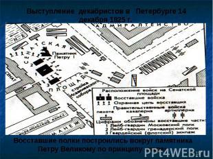 Выступление декабристов в Петербурге 14 декабря 1825 г. Восставшие полки построи