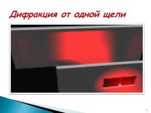 Дифракция от одной щели