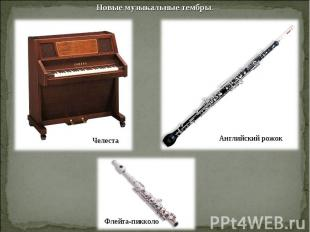 Новые музыкальные тембры.