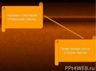 Музыка к спектаклю «Ревизская сказка»Оркестровая сюита«Гоголь-сюита»