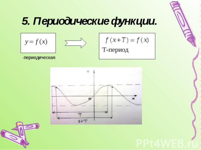 5. Периодические функции.
