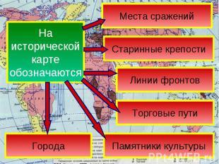 Наисторическойкартеобозначаются