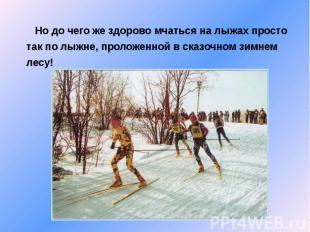 Но до чего же здорово мчаться на лыжах просто так по лыжне, проложенной в сказоч