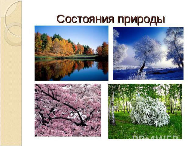 Состояния природы